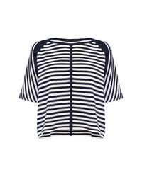 Karen Millen | Blue Stripe Knit Jumper | Lyst