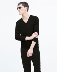 Zara | Black Viscose Sweater for Men | Lyst