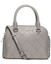 Michael Kors | Gray Michael Cindy Cross Stitch Mini Crossbody | Lyst