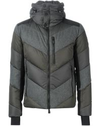 Moncler Grenoble - Gray Padded Zipped Jacket for Men - Lyst