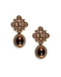 Stephen Dweck - Metallic Smokey Quartz Clip-on Earrings - Lyst