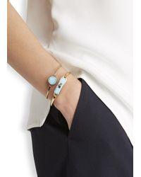 Marc By Marc Jacobs   Blue Logo Disc-O Aqua Enamel Bracelet   Lyst