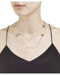 Arme De L'Amour | Metallic Double Strand Square Necklace / Sale | Lyst