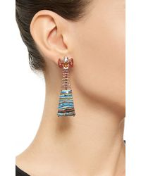 Lydia Courteille | Multicolor One Of A Kind Indian Bird Earrings | Lyst