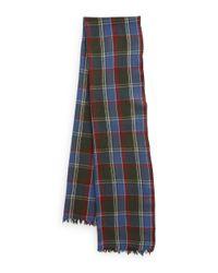 Polo Ralph Lauren   Green Flannel Wool Scarf for Men   Lyst
