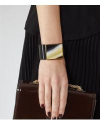 Reiss | Black Maple Chunky Cuff | Lyst