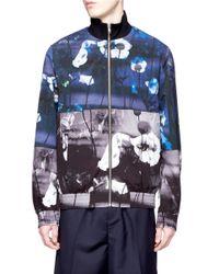 McQ - Multicolor Contrast Floral Print Zip Jacket - Lyst