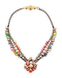 Shourouk - Orange Necklace - Lyst