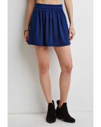Forever 21 - Blue Classic Skater Skirt - Lyst