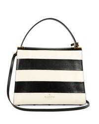 Valentino - Black My Rockstud Striped Flap Bag - Lyst