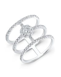 Anne Sisteron | 18kt White Gold Diamond Fleur Ring | Lyst