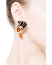 Bijoux Heart - White Mohawk Swarovski-Crystal Earrings - Lyst
