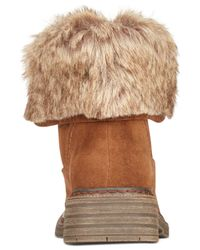 Wanted | Brown Stout Faux-fur Hiker Booties | Lyst