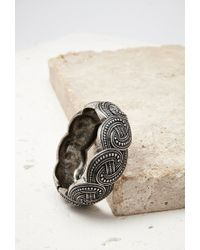 Forever 21 - Metallic Braid-etched Hinge Bracelet - Lyst