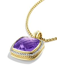 David Yurman - Yellow Albion Pendant With Amethyst & Diamonds - Lyst