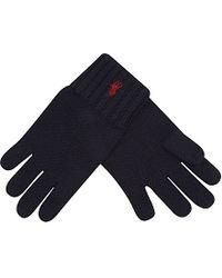 Ralph Lauren - Blue Wool Gloves - For Women - Lyst