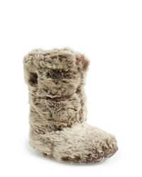 Bedroom Athletics | Brown 'sienna' Faux Fur Bootie Slipper | Lyst