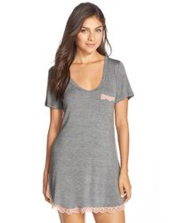 Honeydew Intimates | Gray 'all American' Sleep Shirt | Lyst