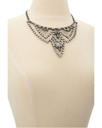 Forever 21 - Black Faux Stone Chandelier Bib Necklace You've Been Added To The Waitlist - Lyst