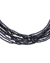 John Lewis | Blue Sparkle Layered Twist Necklace | Lyst