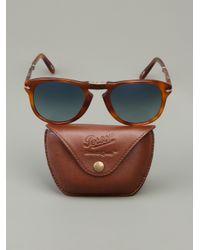 Persol | Brown Folding Frame 'Steve Mcqueen' Sunglasses | Lyst