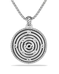 David Yurman | Metallic Labyrinth Small Disc Pendant | Lyst