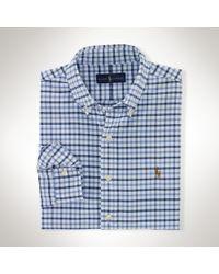 Polo Ralph Lauren - Blue Tattersall Cotton Oxford Shirt for Men - Lyst
