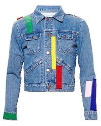 James Long | Blue Patchwork Denim Jacket for Men | Lyst