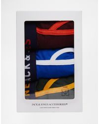 Jack & Jones - Multicolor 3 Pack Trunks With Contrast for Men - Lyst