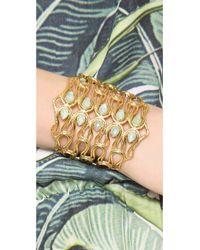 Alexis Bittar - Metallic Scalloped Aigrette Cuff Bracelet - Lyst