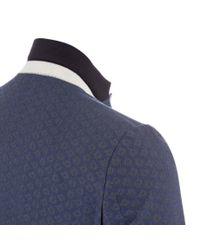 Paul Smith - Blue Men's Tailored-fit Navy Jacquard Cotton Blazer for Men - Lyst