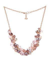 Ted Baker - Pink Crisbel Bead Cluster Necklace 16 - Lyst