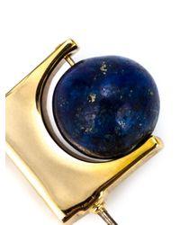 Uribe | Blue Bar Pin Fastening Globe Earrings | Lyst