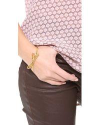 kate spade new york - Metallic Skinny Mini Bow Bangle Bracelet - Gold - Lyst