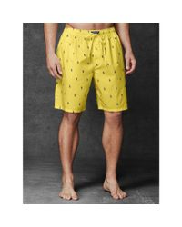 Polo Ralph Lauren - Yellow Allover Pony Sleep Short for Men - Lyst