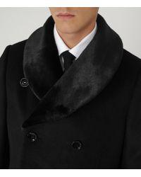 Reiss - Black Mcgregor Shawl Collar Overcoat for Men - Lyst