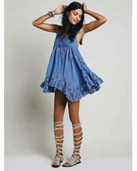 Free People | Blue She Swings Slip | Lyst