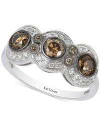 Le Vian | Metallic Chocolatier® Chocolate Deco Estate™ Diamond (9/10 Ct. T.w.) Ring In 14k White Gold | Lyst