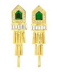 Rachel Zoe | Metallic Gold-plated Deco Fringe Earrings | Lyst