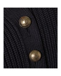 Chloé - Blue Button-Detail Wool Sweater Dress - Lyst