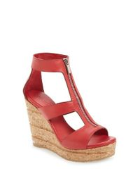 Jimmy Choo | Red 'Novice' Sandal | Lyst