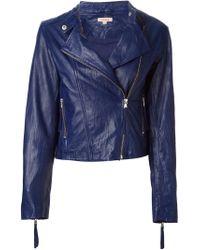 P.A.R.O.S.H. - Blue Biker Jacket - Lyst