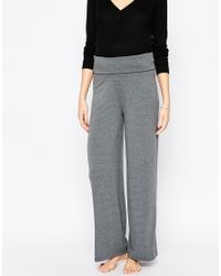 ASOS | Gray Lounge Foldover Pant | Lyst