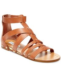 Steve Madden | Brown Drastik Leather Gladiator Sandals | Lyst
