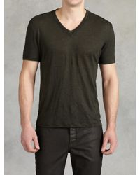 John Varvatos | Black Linen V-neck for Men | Lyst