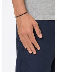 Luis Morais - Black Anchor Spacer Beaded Bracelet - Lyst