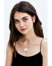 Urban Outfitters - Metallic Midtown Short Pendant Necklace - Lyst
