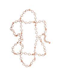 Ted Baker - Metallic Gemari Long Crystal Row Necklace - Lyst