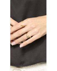 Elizabeth and James - Metallic Roni Ring - Gold/clear - Lyst