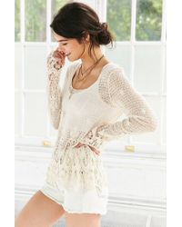 Ecote - White Eden Crochet Top - Lyst